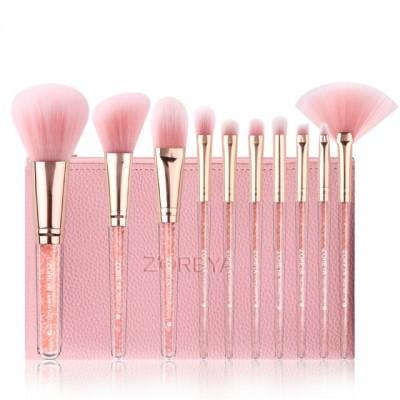 Набор кистей для макияжа Zoreya Rose Gold 10 шт