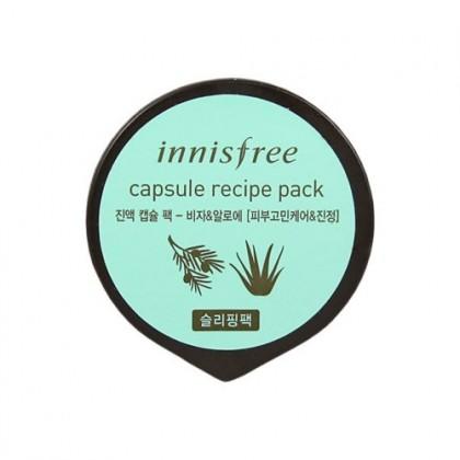 Ночная маска с маслом Торреи и Алоэ Capsule Recipe Pack, Bija & Aloe 10мл