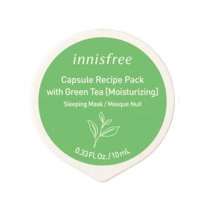 Ночная маска с зелёным чаем Capsule Recipe Pack (Green Tea) 10мл