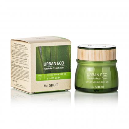 Освежающий крем-гель c экстрактом новозеландского льна The Saem Urban Eco Harakeke Fresh Cream (60 мл)
