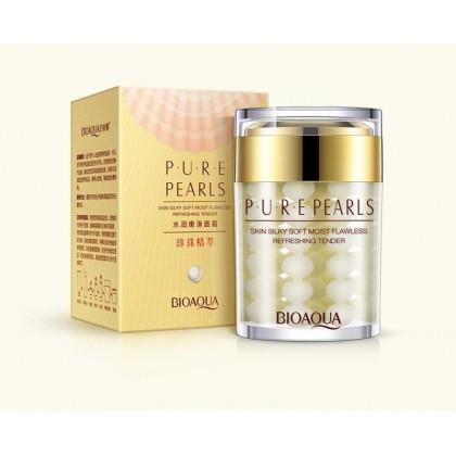 Крем для лица с жемчужной пудрой Bioaqua Pure Pearls.