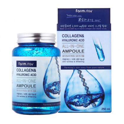 Ампульная сыворотка с коллагеном и гиалуроновой кислотой Collagen & Hyaluronic