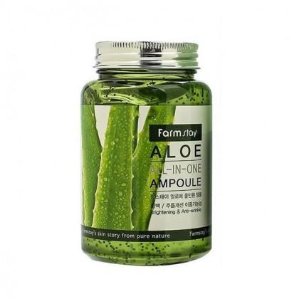 Ампульная сыворотка с с экстрактом алоэ вера Aloe All In One Ampoule