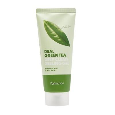 Пилинг-скатка с зеленым чаем Farm stay Green Tea real deep clear peeling gel, 100ml