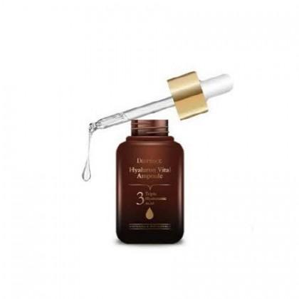 Ультра увлажняющая сыворотка для лица с гиалуроновой кислотой Deoproce Hyaluron Vital Ampoule