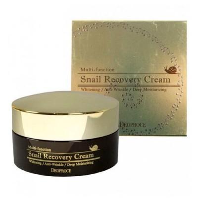 Восстанавливающий крем с экстрактом улитки Deoproce Snail Recovery Cream