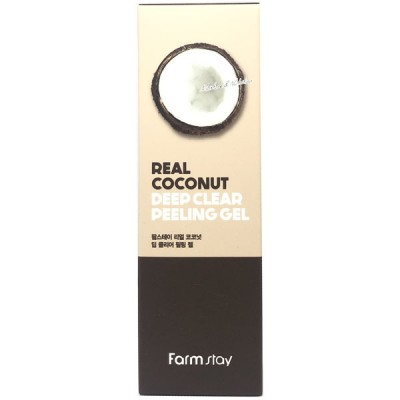 Пилинг-гель с кокосом FarmStay Real Coconut Deep Clear Peeling Gel, 100мл