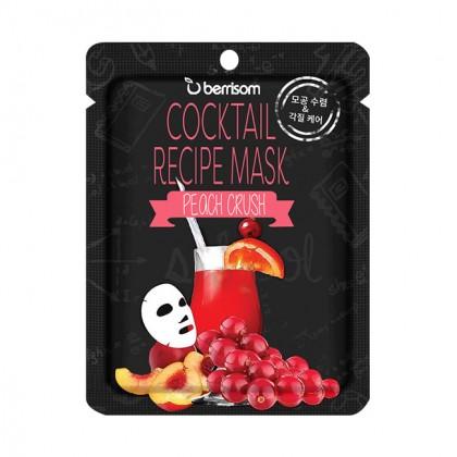 Коктейльная тканевая маска с персиком Berrisom Cocktail Recipe Mask -  Peach Crush