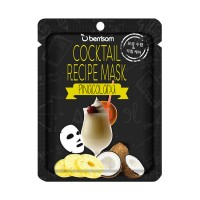 Коктейльная тканевая маска Пина-Колада Berrisom Cocktail Recipe Mask - Pina Colada
