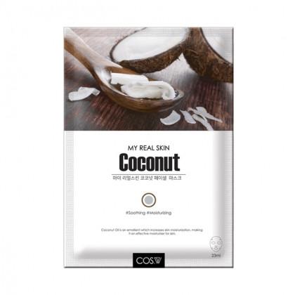 Тканевая маска с кокосом COS.W My Real Skin Coconut Facial Mask
