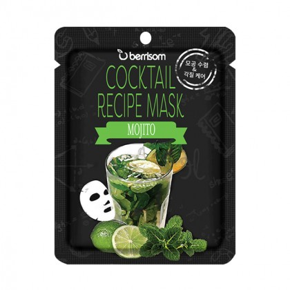 Коктейльная тканевая маска Мохито Berrisom Cocktail Recipe Mask - Mojito