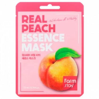 Тканевая маска для лица с экстрактом персика FarmStay Real Peach Essence Mask