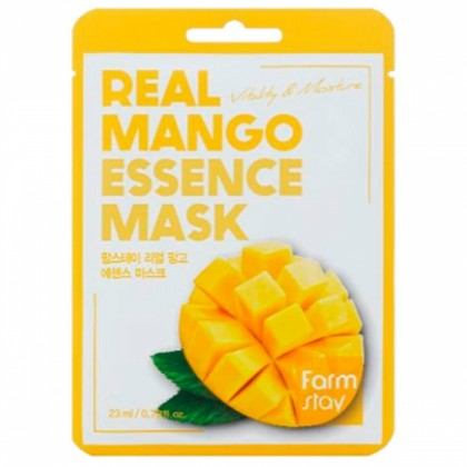 Тканевая маска для лица с экстрактом манго FarmStay Real Mango Essence Mask