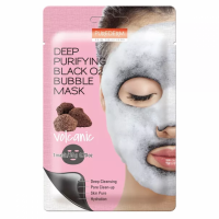 Кислородная маска PUREDERM Deep Purifying Black O2 Bubble Mask Volcanic