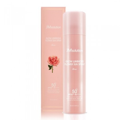 Солнцезащитный спрей-мист JMsolution Glow Luminous Rose Flower Sun Spray SPF50+/PA++++