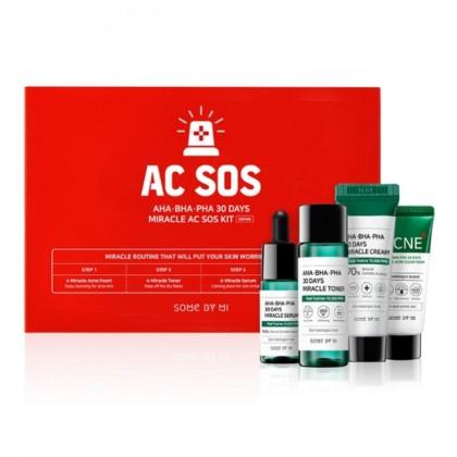 Набор мини-средств с кислотами для проблемной кожи SOME BY MI AHA BHA PHA 30 DAYS MIRACLE AC SOS KIT