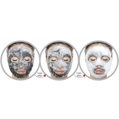 Кислородная маска Purederm Deep Purifying Black O2 Bubble Mask Charcoal