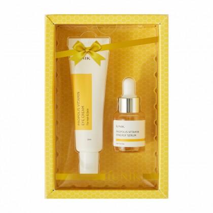 Витаминный набор с прополисом: сыворотка и крем для век iUnik Propolis Vitamin Eye Cream Set