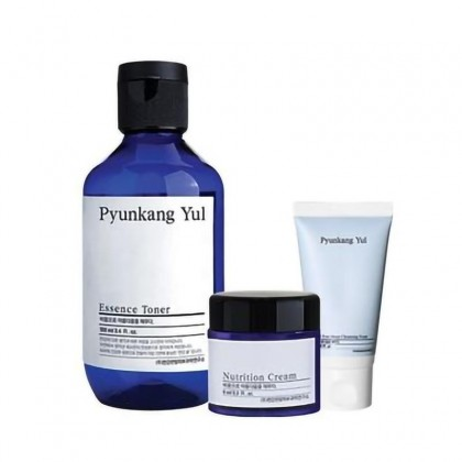 Набор косметики Pyukang Yul тонер, кре, пенка Pyunkang Yul Set Essence Toner 100ml + Nutrition Cream 9ml+ Low pH Pore