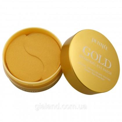 Гидрогелевые патчи для глаз с золотым комплексом +5 — PETITFEE Gold Hydrogel Eye Patch 60шт